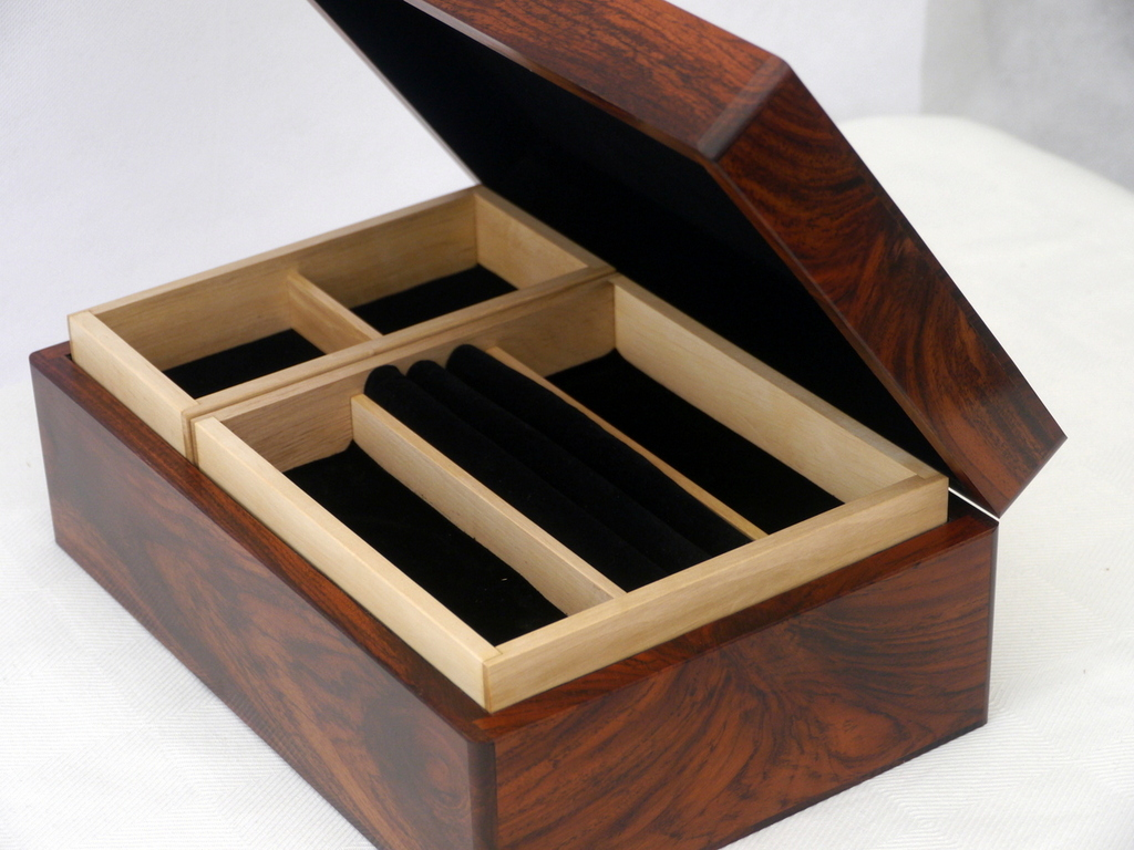 Dark Teak Luxury Jewellery Box