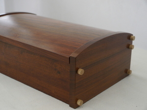 Solid Rosewood and Maple Luxury Jewellery Box 11in