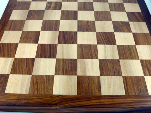 Chess Board High Quality Flat Solid Sheesham with almost 2 inch Squares