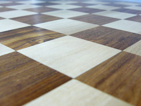 High Quality Flat Chess Board in Solid Sheesham with 2.2 inch Squares