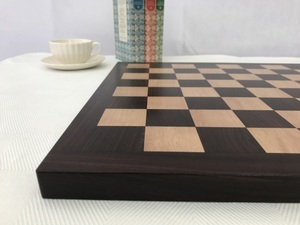 High Quality Flat Rosewood Chess Board with 1.75in Squares