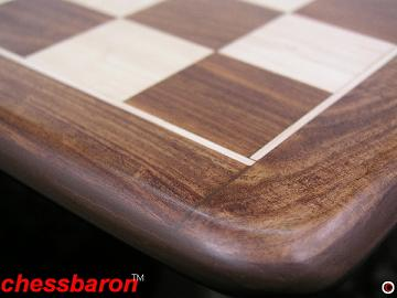 Solid Sheesham Flat Chess Board with 2 inch Squares