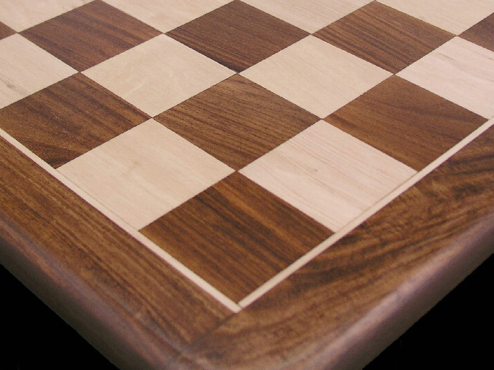 Solid Sheesham Luxury Chess Board with 2 inch Squares