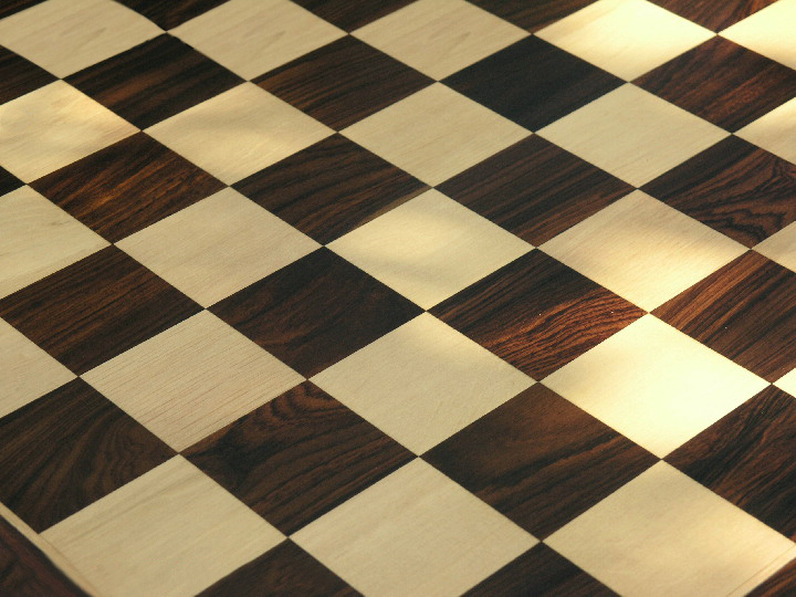 Increased Thickness Luxury Rosewood Chess Board with 2 inch Squares
