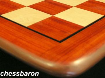 Luxury Redwood Chess Board with 2 inch Squares