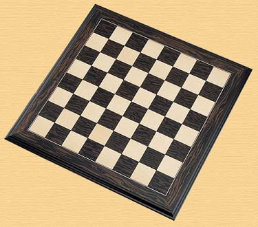 Ebony and Maple Chess Board 2 inch Squares