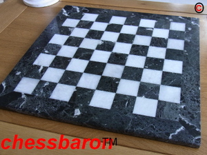 Heavy Solid Marble Chess Board 1.6 inch squares. Case Included.