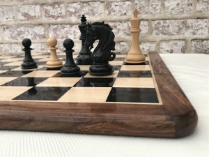 Ebony Chess Board with 2in Squares - Gloss