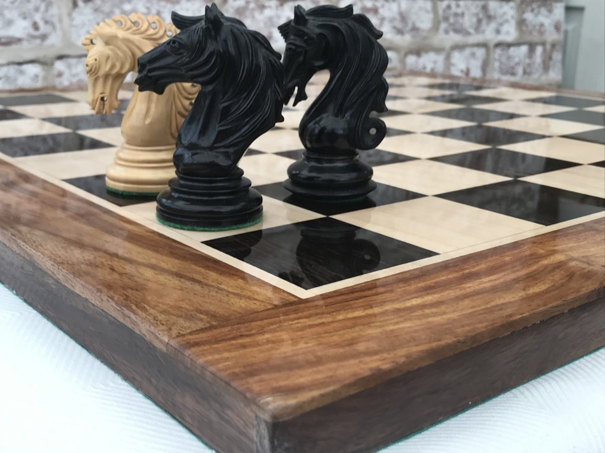 Ebony Chess Board with 2.4in Squares - Gloss