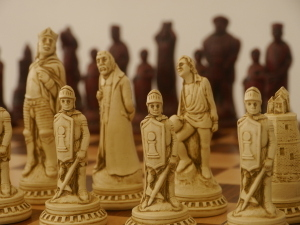 Berkeley Chess Ltd - Shakespeare - Ivory and Red
