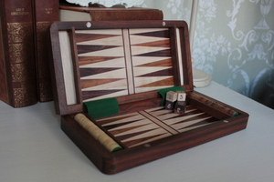 Chess, Draughts and Backgammon 10 x 10 Inches