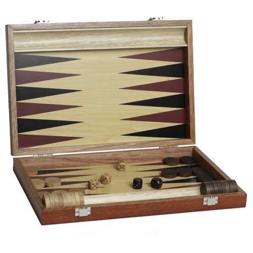 Wooden Backgammon - Small - 25cm x 20cm