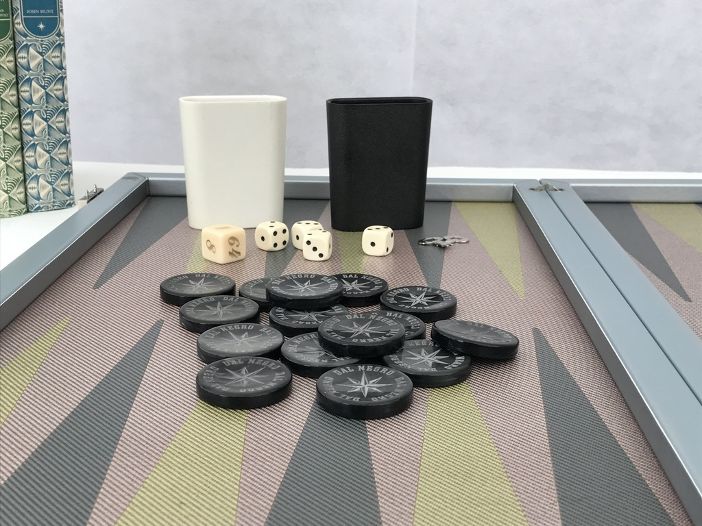New! Dal Negro Luxury Composite Fibre Backgammon Set - (0