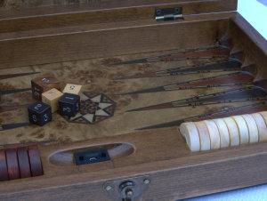 New! SAC Ultimate Luxury Rosewood Backgammon Set - Medium