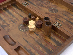 New! SAC Ultimate Luxury Rosewood Backgammon Set - Large