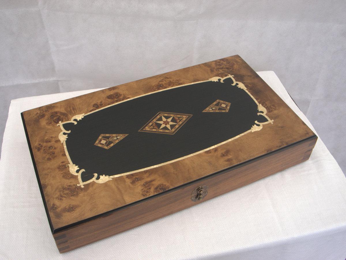 New! SAC Ultimate Luxury Rosewood Backgammon Set - Large - (0)1278