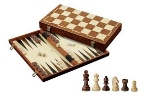 Large Chess, Backgammon and Draughts Combo - 16 inch