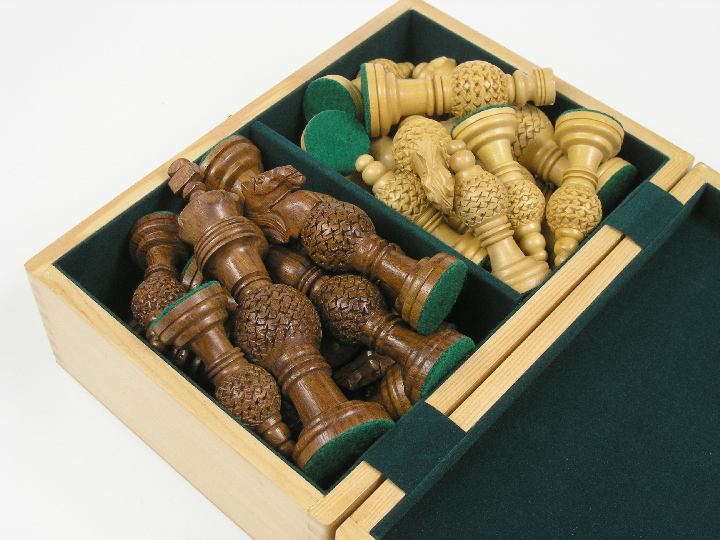 Solid Wood Chess Case 10 x 7 x 4 inches