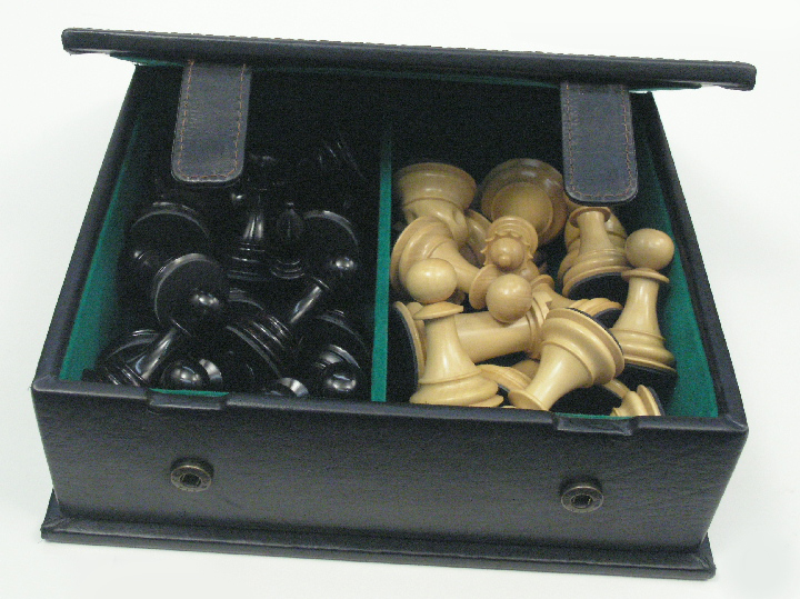 Book Style Leather Chess Box 10 inch x 7 inch x 4 inch