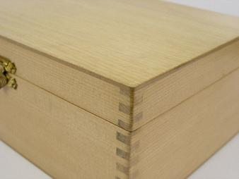 Large Natural Wood Chess Case 12 x 8 x 5 inches