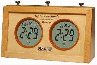 New! Garde Digital Chess Clock with Pause Button