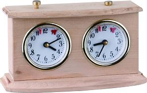 Solid Wood Enhanced Quality Chess Clock with Styled Pedestal