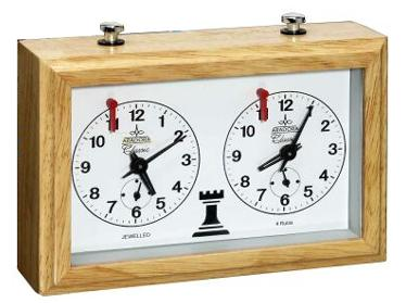 CL2032 German Solid Beech Chess Clock - Four Jewel Movement