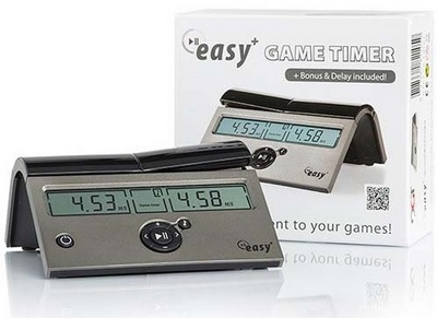 DGT Easy PLUS Digital Chess Clock - Batteries Included