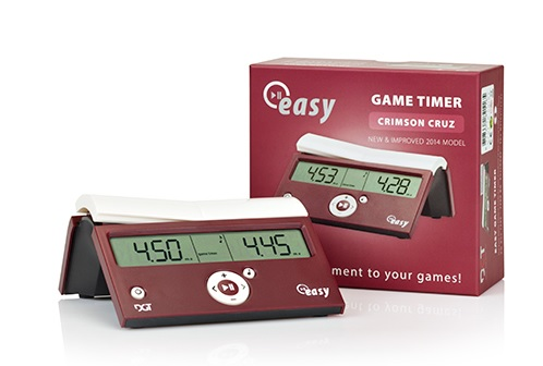 CL2035 DGT Easy Digital Chess Clock - Crimson Cruz