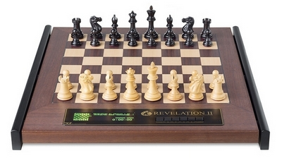 CMD2030 DGT Revelation II Luxury Chess Computer with Ebony Chess Pieces
