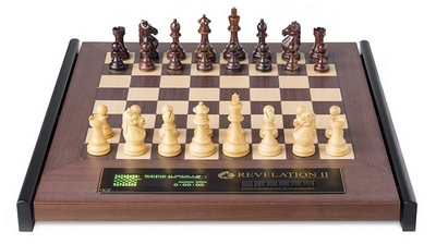 CMD2031 DGT Revelation II Luxury Chess Computer with Royal Chess Pieces