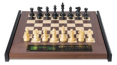 CMD2033 DGT Revelation II Luxury Chess Computer with Classic Chess Pieces