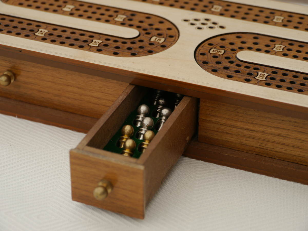 Cribbage 3 Track in Whitewood