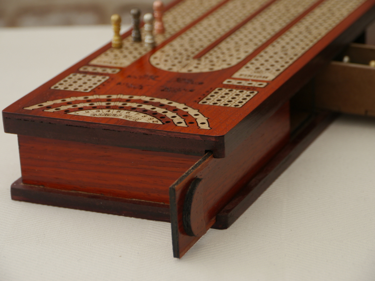 Cribbage 4 Track in Redwood