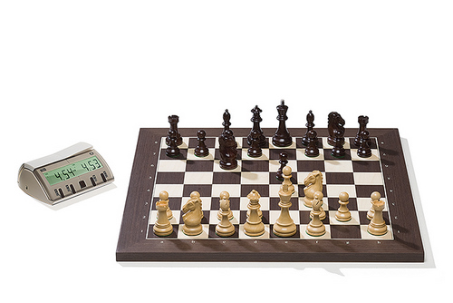 Wenge DGT Electronic Chessboard (E-Board) Serial Port Version. Royal Pieces