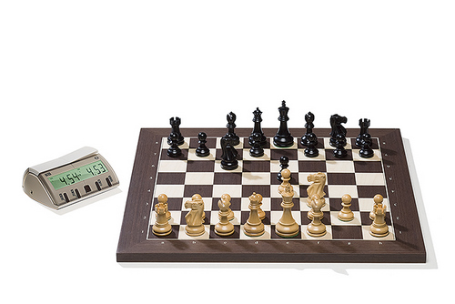 Wenge DGT Electronic Chessboard (E-Board) Serial Port Version. Classic Pieces
