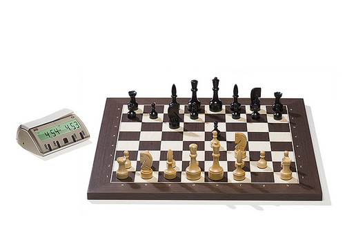 Wenge DGT Electronic Chessboard (E-Board) USB Port Version. Design Pieces