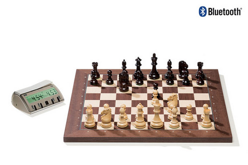 Rosewood DGT Electronic Chessboard (E-Board) BLUETOOTH Version. Royal Pieces