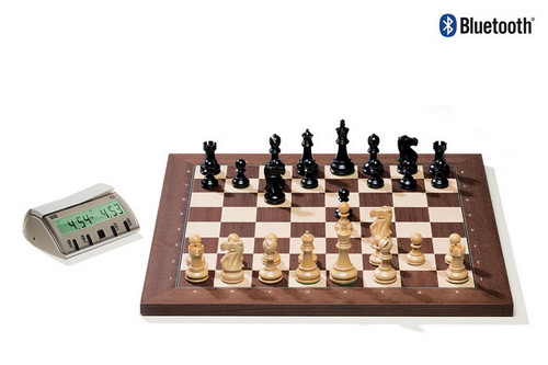 Rosewood DGT Electronic Chessboard (E-Board) BLUETOOTH Version. Classic Pieces