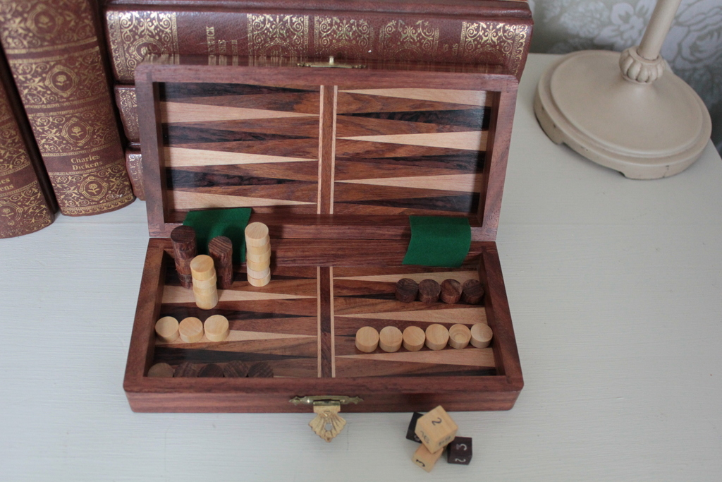 Draughts and Backgammon 7 Inches Square