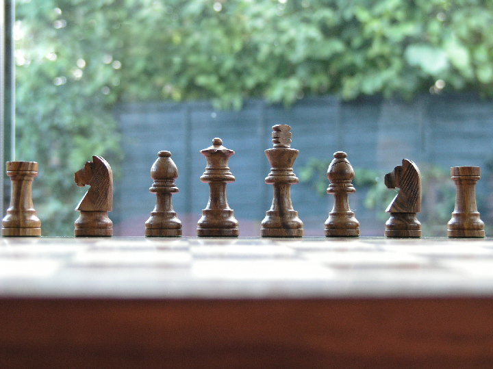 Solid Rosewood Combination 12 inch Chess Set