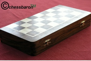 Solid Rosewood Combination 14 inch Chess Set