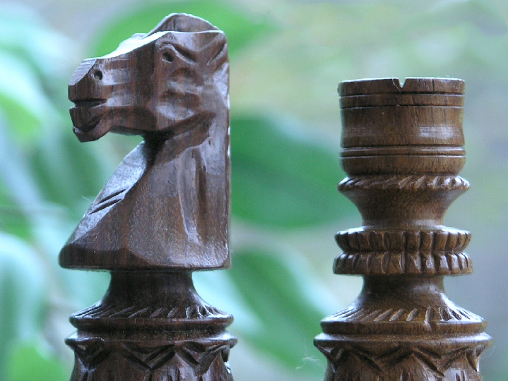 The Sidewinder in Sheesham wood Chess Pieces