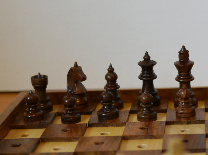 10 inch Chess and Draughts Set for the Blind