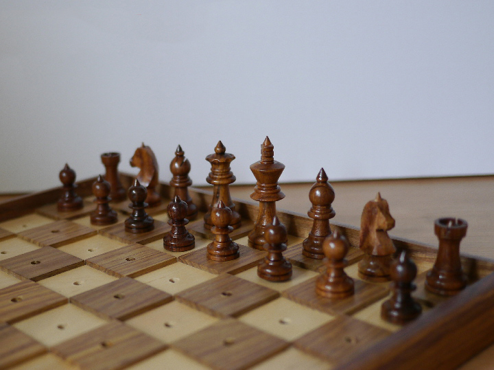 13 inch Chess and Draughts Set for the Blind