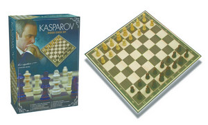 Kasparov GIFT PACKAGE Handmade Wood Chess with Board