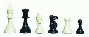 F2002 Gambit Plastic Chess Pieces 3 inch