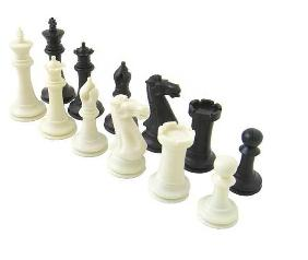 Executive Triple Weighted Plastic Chess Set