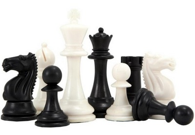 Weighted Black and Tan Tournament Chess Set