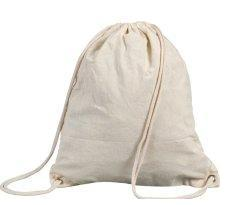 Fabric Drawstring Bag - Cream Coloured